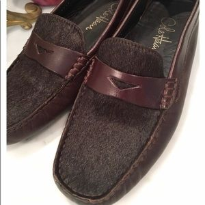 Cole Haan Choc Leather / Calf Driving Loafers